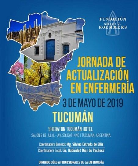 Jornada Actualización en Enfermería. Fundación Roemmers. No Arancelada. Mayo 3, 2019. Tucumán.