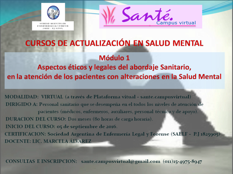 SAELF salud mental 2016