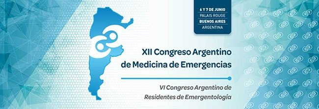 XII Congreso Argentino de Medicina de Emergencias. Inicio junio 6, 2019. CABA