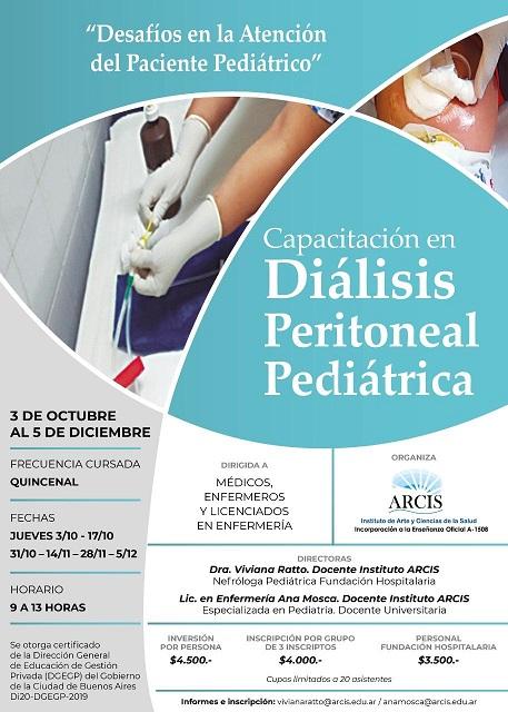 Curso Diálisis Peritoneal Pediátrica. Instituto ARCIS. Inicio octubre 3, 2019. CABA